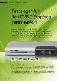 Testsieger für den DVB-T Empfang DIGIT MF4-T