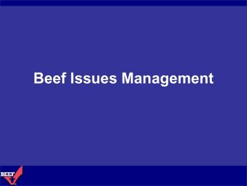 Beef Issues Management - Cattlemen's Beef Promotion and ...