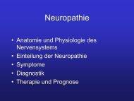 Diabetische Neuropathie und die Folgen