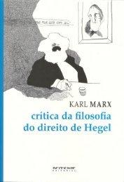 Critica da Filosofia do Direito de Hegel – Karl Marx