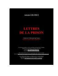 Lettres de la prison - Les Classiques des sciences sociales - UQAC