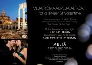 for a sweet St Valentine - Meliá Hotels & Resorts