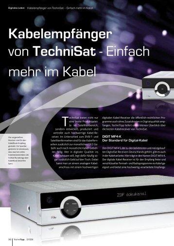 Kabelempfänger von TechniSat - Einfach mehr im Kabel