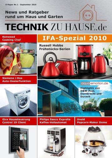 e-paper 1-2010 - Technik zu Hause