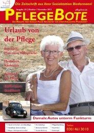 PflegeBote #10 (Oktober / November 2011) - Sozialstation ...