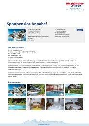 Sportpension Annahof - Kitzbüheler Alpen St. Johann in Tirol
