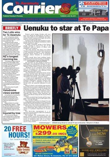 Te Awamutu Courier - July 26th, 2011 - Te Awamutu Online