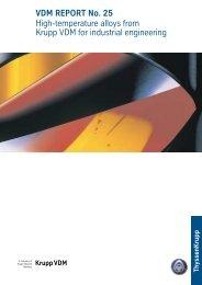 VDM REPORT No.25 - ThyssenKrupp VDM