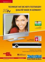TechniSaT haT die hdTV-TeSTSieger! QualiTäT Made in gerMany!