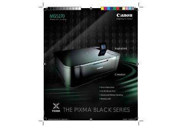 pixma mg5270 - Canon in South and Southeast Asia
