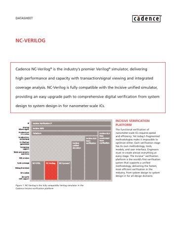 NC-Verilog datasheet - Cadence - Cadence Design Systems