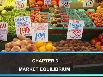 CHAPTER 3 MARKET EQUILIBRIUM