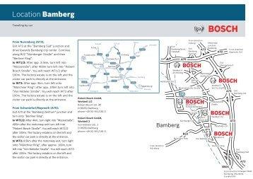 Location Bamberg - Bosch-Kalibrierdienst