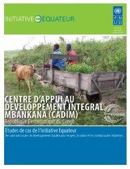 centre d'appui au developpement integral ... - Equator Initiative