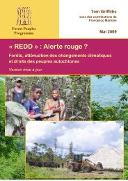 « REDD » : Alerte rouge ? - Forest Peoples Programme
