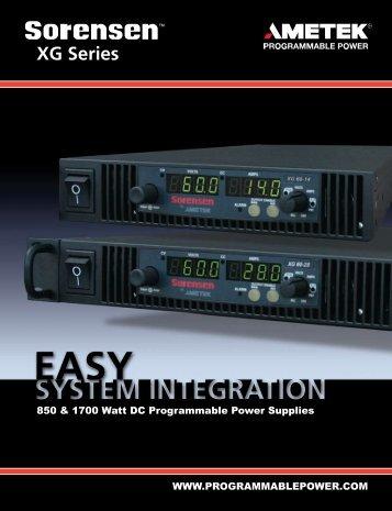 Download XG Series Brochure - AMETEK Programmable Power
