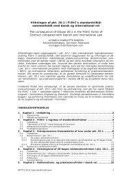 Virkningen af pkt. 20.1 i FIDIC's standardvilkår sammenholdt med ...