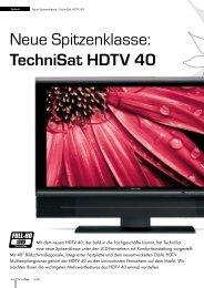 Neue Spitzenklasse: TechniSat HDTV 40