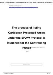 The process of listing Caribbean Protected Areas ... - CAR-SPAW-RAC