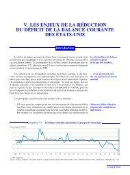 Les enjeux de la réduction du déficit de balance courante des États ...