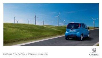 priročnik o varčni porabi goriva in emisijah co2 - Peugeot.si
