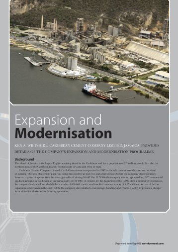Expansion and Modernisation - Caribbean Cement Company Limited
