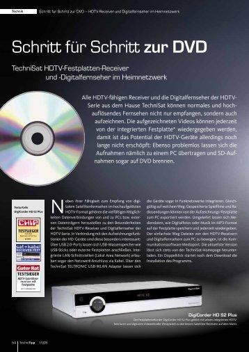 Schritt für Schritt zur DVD
