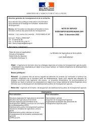 MINISTERE DE L'AGRICULTURE ET DE LA PECHE ... - ChloroFil
