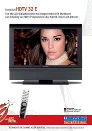 TechniSat hDTV 32 e Full-hD LcD-Digitalfernseher mit integriertem ...