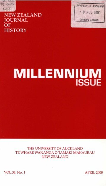 MILLENNIUM ISSUE - New Zealand Journal of History - The ...