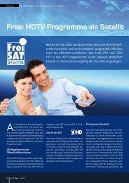 Freie HDTV-Programme via Satellit