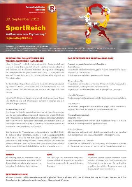 SportReich - TechnologieRegion Karlsruhe