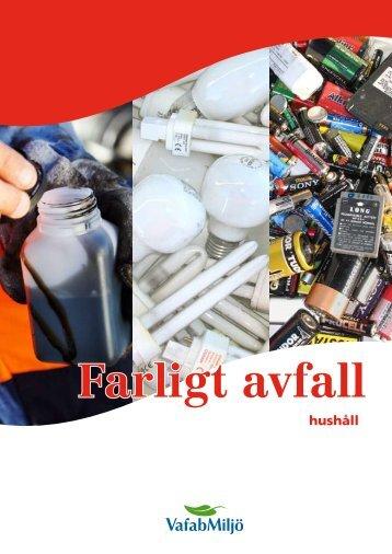 Farligt avfall - hushåll - VafabMiljö