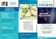 programme de la conférence Cyclope Par André Brahic - CEA Saclay