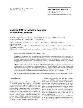 Modified PZT ferroelectric ceramics for fetal heart sensors