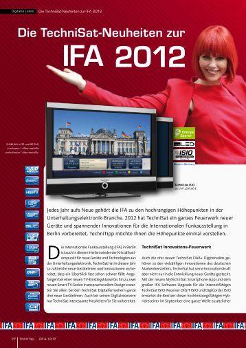 IFA 2012 Die TechniSat-Neuheiten zur