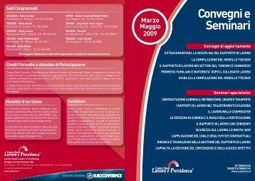 Convegni e Seminari - Centro Studi Lavoro e Previdenza