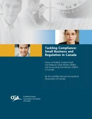 Small Business and Regulation in Canada - Certified General ...