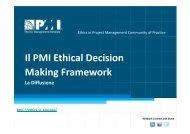 Il PMI Ethical Decision Making Framework La Diffusione - PMI-NIC