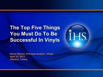 Global Market Report on PVC - VinylPlus