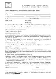Modello passo carrabile - Comune di Messina