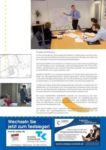 Wechseln Sie jetzt zum Testsieger! - TechnologiePark - Paderborn