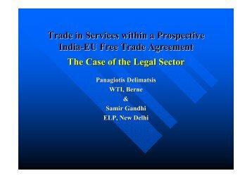 Trade in Services within a Prospective India-EU Free Trade ...