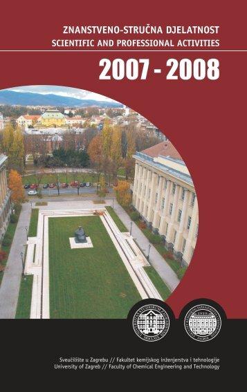 Izvješće o znanstvenoj djelatnosti 2007. - 2008. (pdf, 0.7 MB)