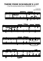 Schindler's List – Theme (Solo Piano) – John Williams