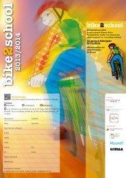 Informationsflyer und Anmeldung für Klassen - Bike2school