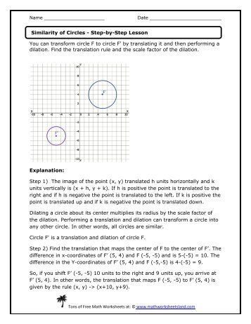 math worksheet : dilations and scale factors lesson  math worksheets land : Dilations Math Worksheet