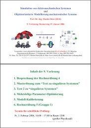 Simulation von elektromechanischen Systemen