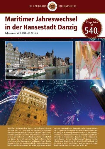 Maritimer Jahreswechsel in der Hansestadt Danzig