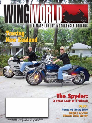 The Spyder: The Spyder: - Wing World Magazine Archives
